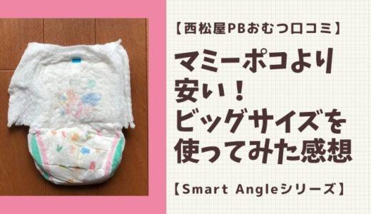 【西松屋PBオムツ口コミ】マミーポコより安い!ビッグサイズを使ってみた感想