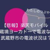 【悲報】楽天モバイルは武蔵境ヨーカドー内で電波なし|武蔵野市の電波状況は?